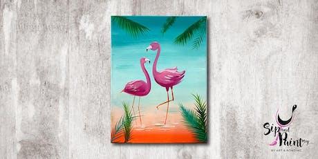 Sip & Paint MY @ Hubba Mont Kiara : Glamorous Flamingo tickets