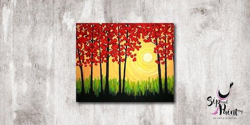 Sip & Paint MY @ Hubba Mont Kiara : Autumn