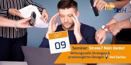 Seminar: Stress? Nein Danke! Tickets