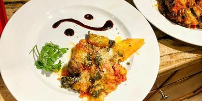 Vegetarian Roasted Vegetable Lasagna (gluten-free) Cooking Class Party