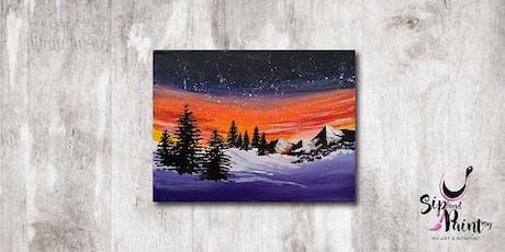 Sip & Paint MY @ EGG Sunway: Winter Night tickets