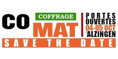 Portes ouvertes COMAT Coffrage tickets