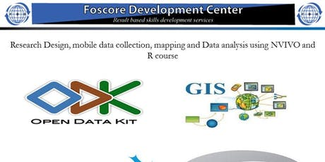 Research Design, mobile data collection and mapping and Data analysis tickets