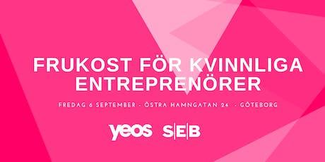 Frukost för Kvinnliga Entreprenörer - GÖTEBORG biljetter