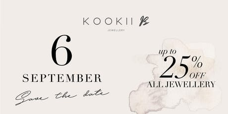 KOOKII B 1 YEAR ANNIVERSARY PARTY 6pm - 9pm Friday 6th September 2019 tickets
