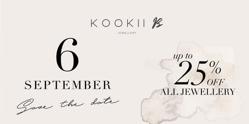 KOOKII B 1 YEAR ANNIVERSARY PARTY 6pm - 9pm Friday 6th September 2019