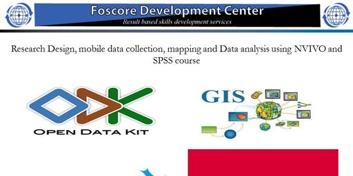 Research Design, mobile data collection, mapping and data analysis