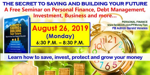 A FREE FINANCIAL LITERACY SEMINAR: SAVINGS-INVESTMENTS-BUSINESS