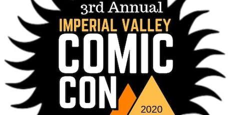Imperial Valley Comic Con 2020 entradas