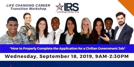Career Transition Workshop for Veterans & Military Families by LeftRightStep.org - September 2019