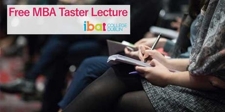MBA Taster Lecture and Open Evening - Wed 4th September tickets