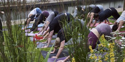 Canalside Yoga at New Maker Yards, Middlewood Locks