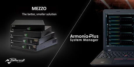 Powersoft Mezzo introduktion och Armonìa utbildning biljetter