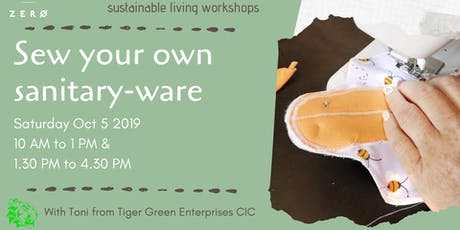 Sew your own reusable sanitary-ware tickets