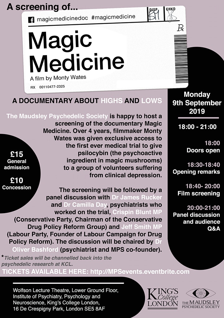 Magic Medicine: A Documentary About Highs and Lows + Panel Discussion image