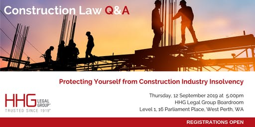 HHG Legal Q&A Series -  Construction Industry Insolvency