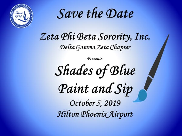 SHADES OF BLUE PAINT & SIP SCHOLARSHIP EVENT