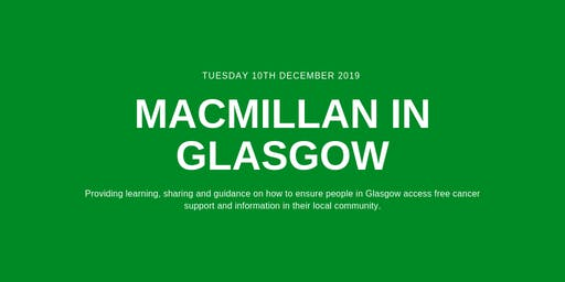 Macmillan in Glasgow: Learning Session in December