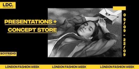 LONDON FASHION WEEK: Lone Design Club's Presentations + Concept Store tickets