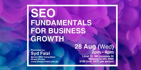 SEO Fundamentals for Business Growth tickets