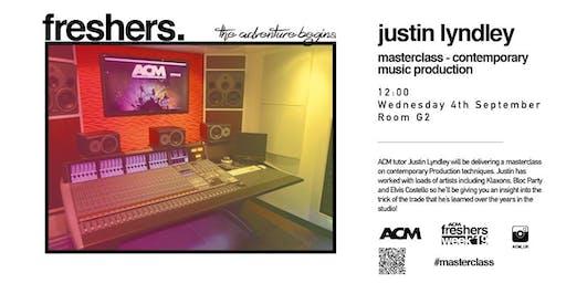 MASTERCLASS: Justin Lyndley