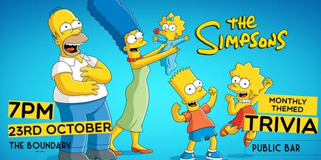THE SIMPSONS Trivia at THE BOUNDARY tickets