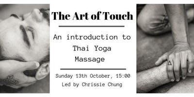 The Art of Touch ~An Intro to Thai Massage Workshop