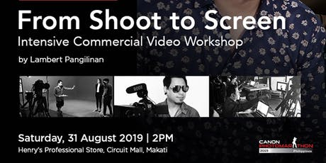 From Shoot to Screen | Intensive Commercial Video Workshop tickets