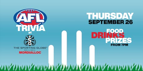 AFL Trivia in MORDIALLOC tickets