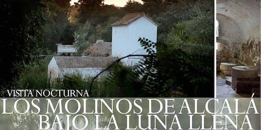 Los molinos de Alcalá bajo la luna llena