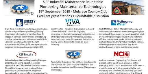 VICTAS IMRt Pioneering Maintenance Technologies Roundtable - Mulgrave Country Club
