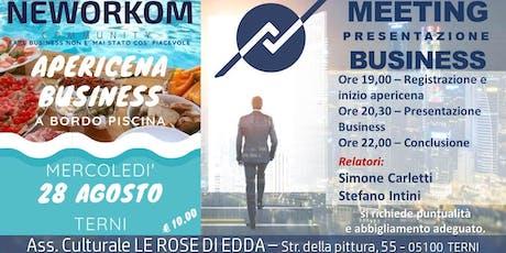 APERICENA - Presentazione Business - NEWORKOM - Terni  biglietti