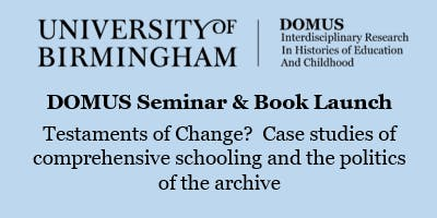 DOMUS Seminar and Book Launch, with Bernard Barker and Jane Martin
