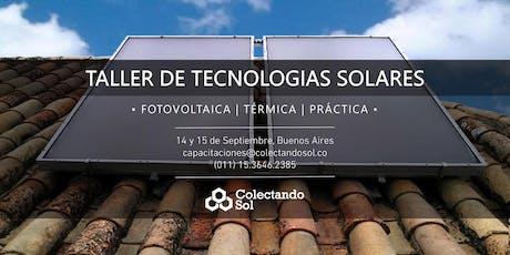 Taller de Tecnologías Solares/ Buenos Aires Septiembre 19 entradas