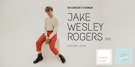 Jake Wesley Rogers en concert à Namur billets