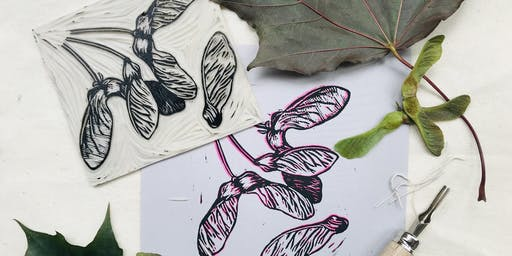 Linocut printmaking workshop - Sensational Seed Heads