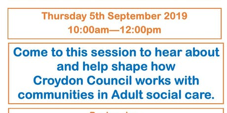 Community Led Support - Changing Social Care for adults tickets