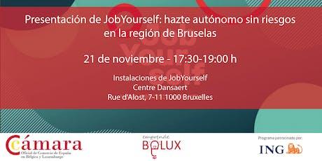 Presentación de JobYourself: hazte autónomo sin riesgos en Bruselas tickets