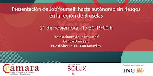 Presentación de JobYourself: hazte autónomo sin riesgos en Bruselas