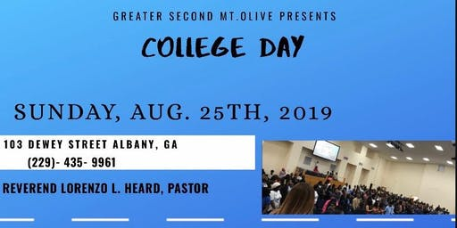 Greater 2nd Mt. Olive College Ministry