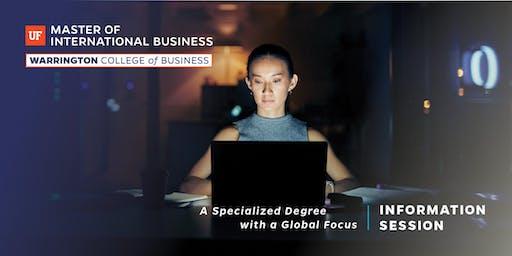 UF Master of International Business Information (MIB) Session