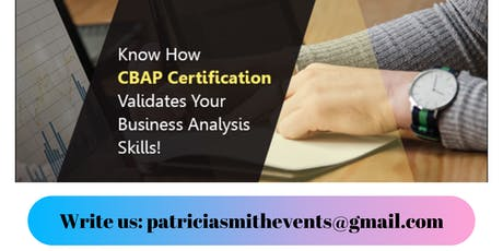 Certified Business Analysis Professional (CBAP®) Certification Training in Rochester, NY tickets