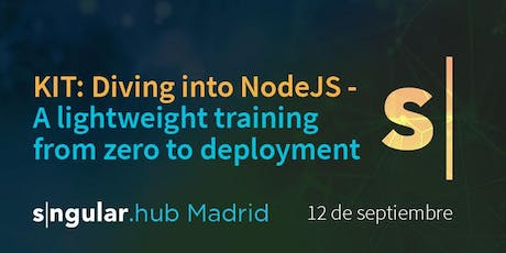 Diving into NodeJS - A lightweight training from zero to deployment tickets