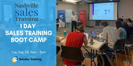 Nashville Sales Training 1 Day Sales Training Boot Camp