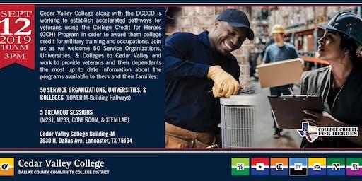 College Credit for Heroes/Cedar Valley Resource Fair— September 12, 2019
