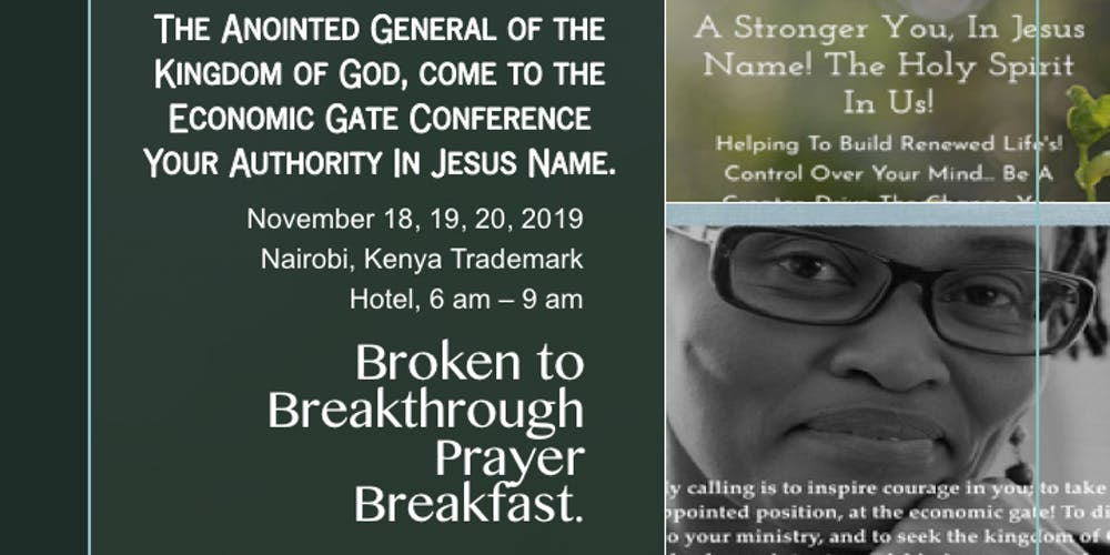 Broken to Breakthrough Prayer Breakfast - November 2019