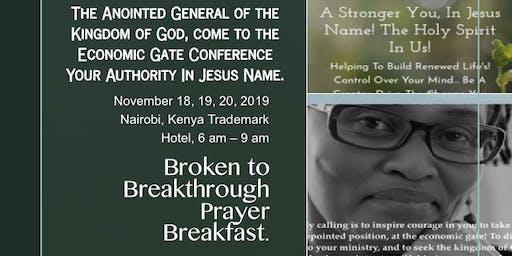 Broken to Breakthrough Prayer Breakfast - November 2019 - Nairobi, Kenya