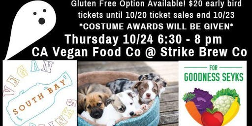 October Social: Vegan Food, Friends, Beer & Adoptable Dogs