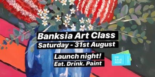 Colourful Banksia Vase - Art Class