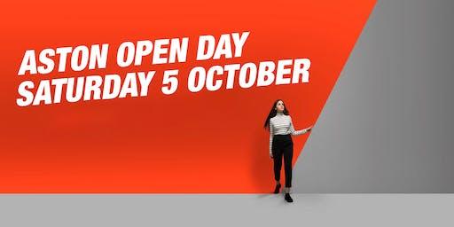 Aston Open Day - October 5